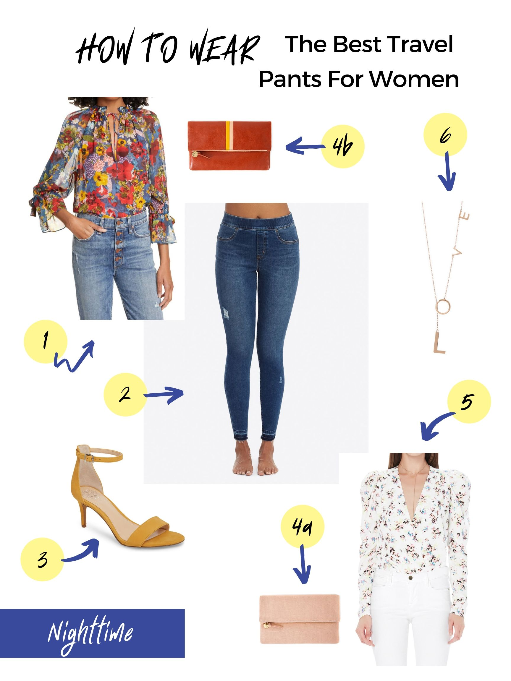 The Best Travel Pants for Women: How to style my favorite travel pants for nighttime | mom fashion tips for traveling with kids | Stacie Billis
