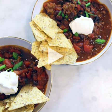 Five Ingredient Instant Pot Chili recipe | Stacie Billis