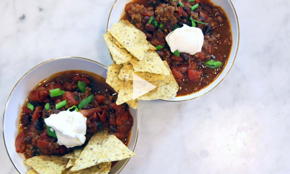 Five Ingredient Instant Pot Chili recipe | Stacie Billis