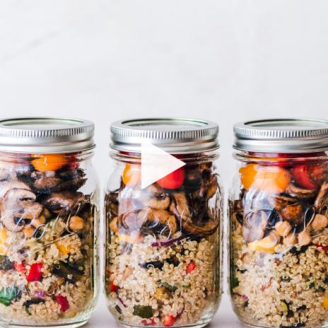 Healthy school lunch ideas for kids: Lunch Box Grain Bowls | Stacie Billis