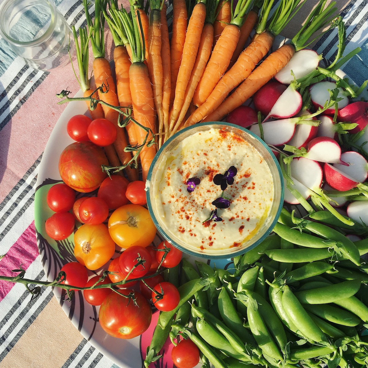 An easy Hearts of Palm dip recipe that yields a lighter, tangier and totally addictive version of hummus | Stacie Billis