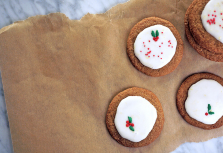 The crispy-on-the-outside, chewy-on-the-inside gingerbread cookie recipe with a perfect lemon glaze   Stacie Billis
