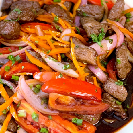 A new family dinner classic: Lomo Saltado, Peruvian beef stir fry recipe | Stacie Billis