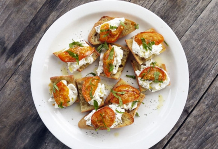 Your new favorite summer appetizer: Roasted Apricot Crostini   Stacie Billis
