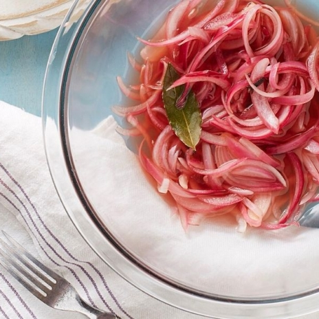 Quick Pickled Red Onion recipe from Make It Easy Cookbook by Stacie Billis