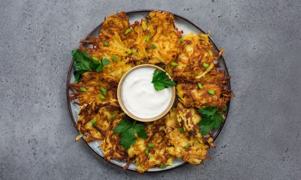 Classic (and nearly perfect!) Potato Latkes recipe: A latke recipe that's been passed down for generations | Stacie Billis