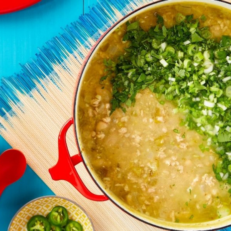 Green and White Chicken Chili recipe from Winner! Winner! Chicken Dinner: 50 Winning Ways to Cook It Up! by Stacie Billis