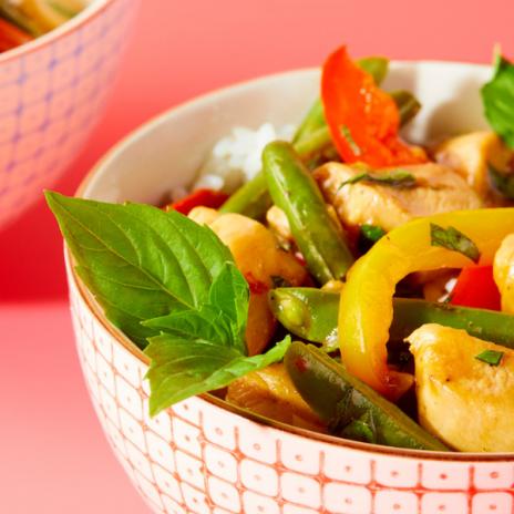 Basil Chicken Stir-Fry recipe from Winner! Winner! Chicken Dinner cookbook by Stacie Billis