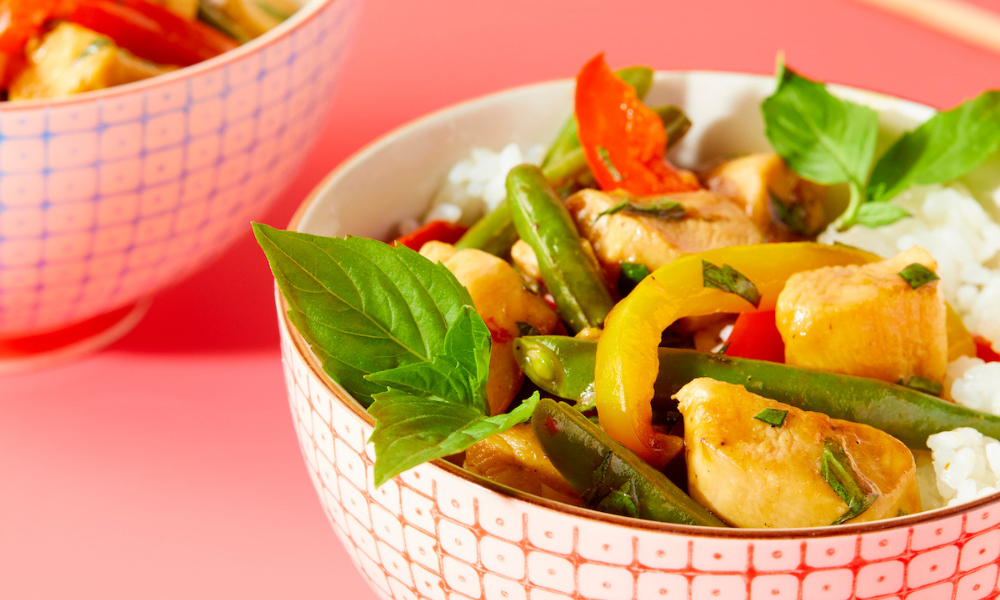 Basil Chicken Stir-Fry recipe from Winner! Winner! Chicken Dinner cookbook by Stacie Billis