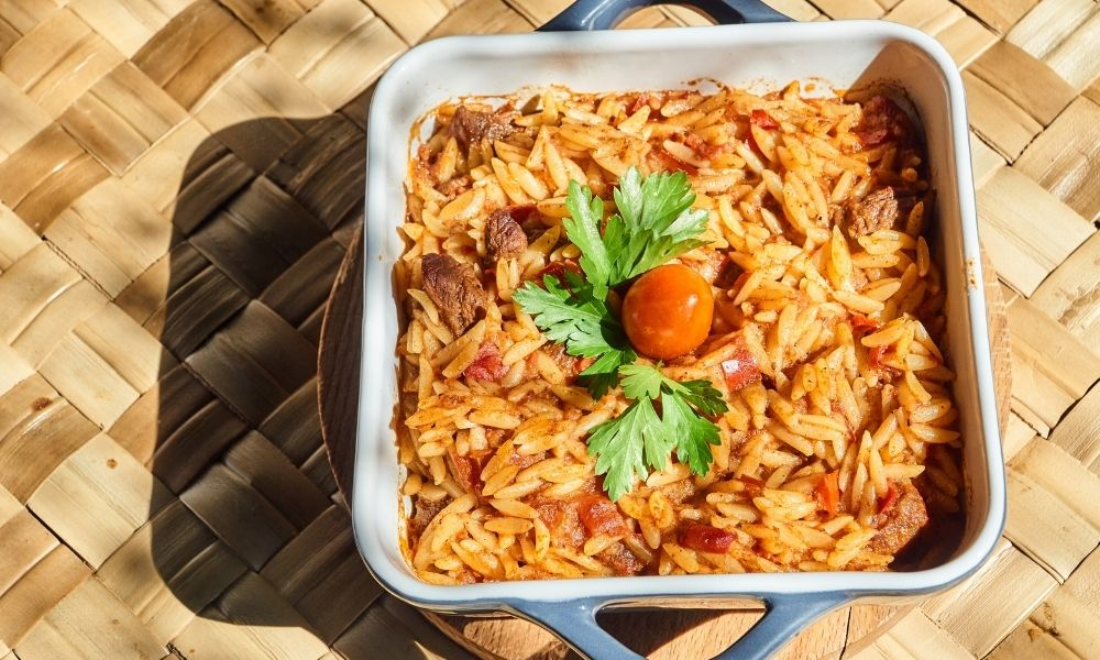 Greek Giouvetsi recipe (Yiouvetsi): A Greek Beef Stew Baked with Orzo that's a perfect family meal   Stacie Billis